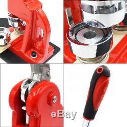 37/44 / 50 / 58mm Bouton Maker Badge Punch Machine De Presse Avec 300pcs Badge Pin Pièces
