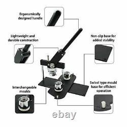 37mm (1 1/2) Bouton Maker Kit-badge Press Machine-b400 + 37mm Round