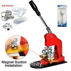 37mm Badge Bouton Maker Punch Machine Pins Kit Aluminium Slide+button Parts