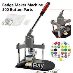 3 '' Ecusson Punch Appuyez Sur Le Bouton Pin Maker Machine +300 Pièces Bouton + Cutter Cercle