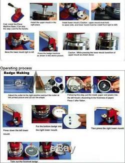 3 Pouces Bouton Badge Maker Machine Bouton Bricolage Badge Punch Machine De Presse Avec Moule