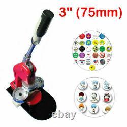 3 Pouces Bouton Badge Maker Machine Bricolage Bouton Badge Punch Machine À Presse Avec Moule