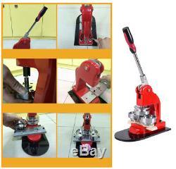 3xinterchangeable Bouton Maker Machine Badge Matériel Tool Kit 3000 5000 / Jour