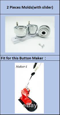 44/58 / 75mm (1 3 / 4or 2 1 / 4or 3) Moule À Matrices Rondes Pour Fabricant De Boutons D'artec-1