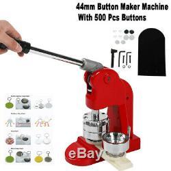 44mm / 1.75in Bouton Maker Punch Machine De Presse De Moule Die Avec 500 Pièces Pin Badge