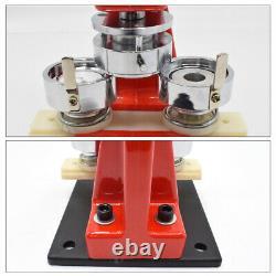 44mm Badge Making Machine Pin Punch Press Maker Circle Cutter & 300 Button Parts