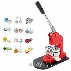 44mm Machine De Fabrication De Bouton Bricolage Badge Manufacturé Main Poinçon Presse Mold Making Fournitures Us