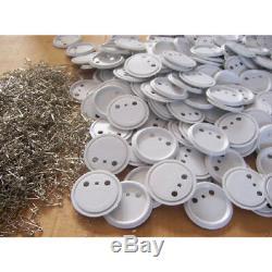 500 X 25/32 / 37/44 / 58 / 75mm Pour Badge Maker Abs Machine Epingle Fournitures Bouton
