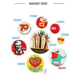 500set 25-75mm Abs / Metal Pin Badge Button Fournitures De Pièces Pour Pro Maker Machine