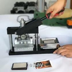 5380mm 23,15 Bouton Magnet Badge Maker Poinçonneuse Machine + 300 Matériaux