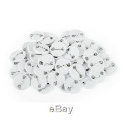 58mm (2,28 '') Bouton Badge Machine Maker + 100 Boutons Cercle Badge Poinçonneuse