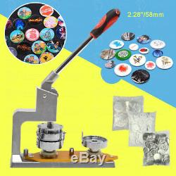 58mm 2,28 ' ' Bouton Badge Maker Poinçonneuse Machine Cercle Cutter Fournitures 300set