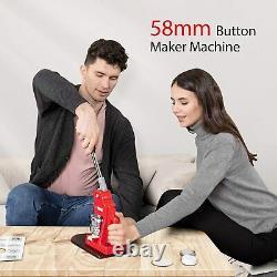 58mm 2.28 Bouton Maker Badge Press Avec 1000 Pcs Button Parts Et Circle Cutter