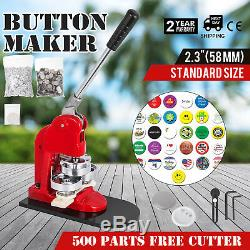 58mm (2.28) Button Badge Maker Appuyez Sur 500 Pièces Machine De Coupe En Métal