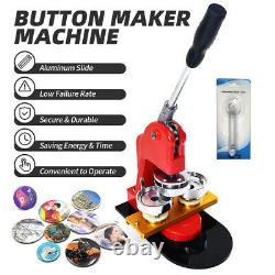 58mm 2.3 Bouton Maker Badge Press 100 Pcs Circle Cutter Manual Making Machine
