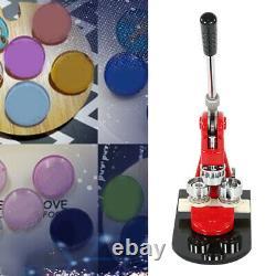 58mm Button Maker Badge Punch Press Machine 1000 Pièces D'épingle +circle Cutter Kit