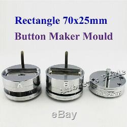 70x25mm Badge Interchangeable Rectangle À Mold Die Machine Bouton Maker N3 Et N4