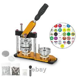 75mm 3'' Badge Button Maker Machine + 100 Boutons Circle Badge Punch Press