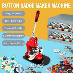 75mm Bouton Maker Badge Press 100pcs Circle Cutter Manual Making Machine Nouveau
