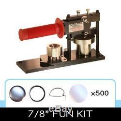 7/8 Bouton Pin Maker / Badge Machine Appuyez Sur +500 Pièces De Bouton Complètes