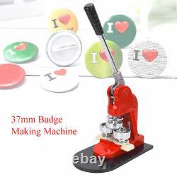 Badge 37mm Professionnel Faisant La Machine Bouton Ergonomique Maker En Appuyant Sur La Machine
