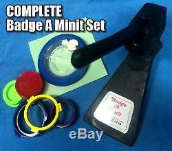 Badge A Minit Minute 2 1/4 Bouton Maker Banc Badge Et Coupe Plus De 200 $ Au Détail