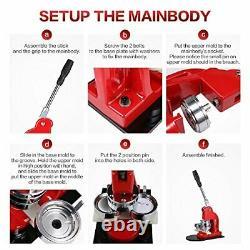 Badge Bouton Beamnova Maker Machine 1 Pouces Avec 1000 Parties De Boutons Et Cercle