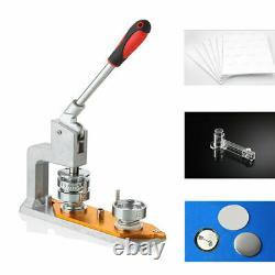 Badge Button Maker Machine Pin Punch Press 75mm / 3 Avec 300 Bouton Flambant Neuf