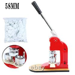 Badge Button Maker Making Machine 58mm +500 Die Mold Punch Press Circle Cutter