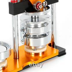 Badge Button Pin Maker Machine 2.28 Die Mould+100 Ensembles Circle Button Parts