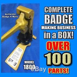Badge Complète A Minit Matic Minute 2 1/4 Bouton Maker Badge De Plus De 400 $ Au Détail