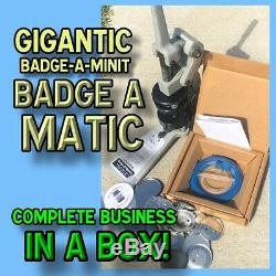 Badge Complète A Minit Matic Minute 2 1/4 Bouton Maker Badge Plus De 450 $ Au Détail