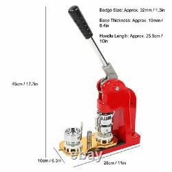 Badge Maker Machine Faisant Pin Bouton Badges Punch Press 32mm +1000 Cutter Kits