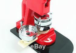 Badge Maker Machine Interchangeable Bouton + Cutter Cercle + 1000 Pin Retour 25mm Facile