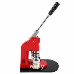 Badge Maker Machine Set Red Aluminium Frame Punching Équipement Avec 500 Bouton 44mm