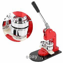 Badge Maker Machine Set Red Aluminium Frame Punching Equipment Avec 500 Boutons