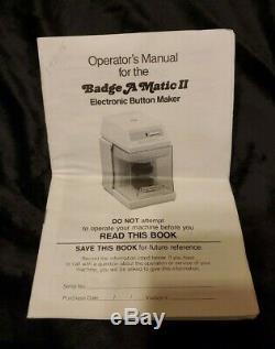 Badge-a-matic II Machine Bouton Maker