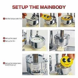 Beamnova Button Badge Maker Machine 1000 Pcs Pièces Bouton 1-1/2 Inch Machine