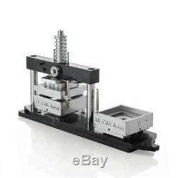 Bouton 2½2½ Aimant Carré Badge Maker Poinçonneuse Machine + 300 Matériaux