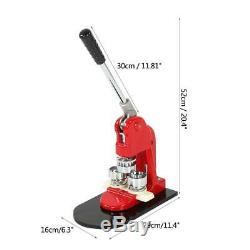 Bouton 32mm Maker Badge Poinçonneuse Machine 1.25 1000 Pièces + Cutter Cercle Des États-unis