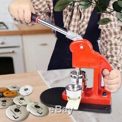 Bouton 37mm Badge Maker Machine Bouton Fournitures De Fabrication De Moules Taille 1.45''us Ship