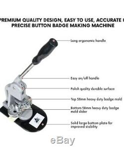 Bouton Badge Faire Machine 58mm 2 ¼ Pouces 2,28 Pouces Fabricant De Bouton De Campagne