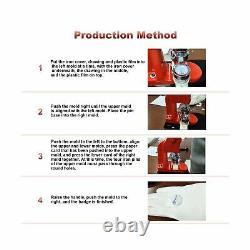 Bouton Badge Maker Machine, Eyorerayo 58mm 2-1/4 Pouce Badge Punch Outils De Presse W