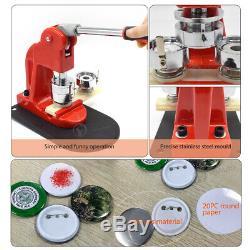 Bouton Badge Maker Machine Poinçonneuse Avec 300 Broches Pièces + Cutter Cercle 25-58mm