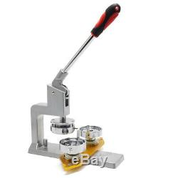 Bouton Badge Maker Pin Punch Machine De Presse 37mm 300 Pièces + Accessoires Cutter Cercle