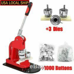 Bouton Badge Maker Poinçonneuse Machine 1 1,25 2,28 1000 Pièces Cutter Cercle