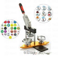 Bouton Badge Maker Poinçonneuse Machine & 300pcs Ronde Pin Pièces & Cercle Cutter