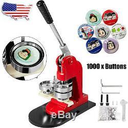 Bouton Badge Maker Punch Machine De Presse Avec Cercle Cutter Faire Cadeau +1000 Pièces