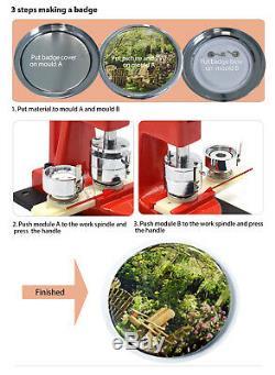 Bouton Badge Maker Punch Machine De Presse Avec Cercle Cutter Faire Des Cadeaux De Noël