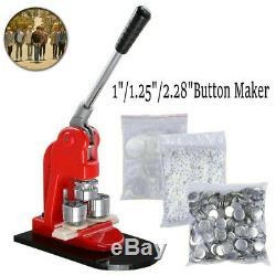 Bouton Badge Punch Maker Machine De Presse 1000pcs Bouton Cercle Pièces & Cercle Cutter